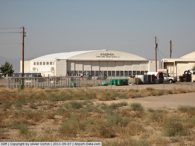 Kingman Airport (IGM) - one of the old hangars at Kingman