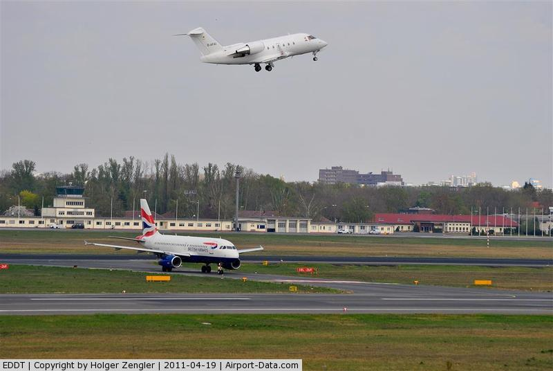 Tegel International Airport (closing in 2011), Berlin Germany (EDDT) - Incoming traffic from rwy 08L is waiting for outgoing traffic on rwy 08R....