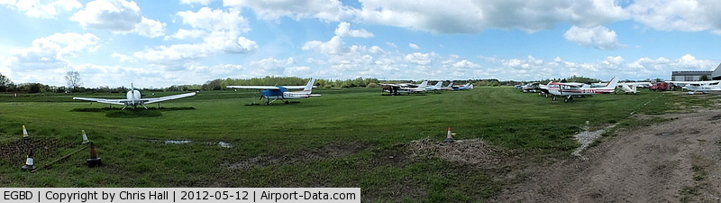 Derby Airfield Airport, Derby, England United Kingdom (EGBD) - panoramic view of Derby Airfield