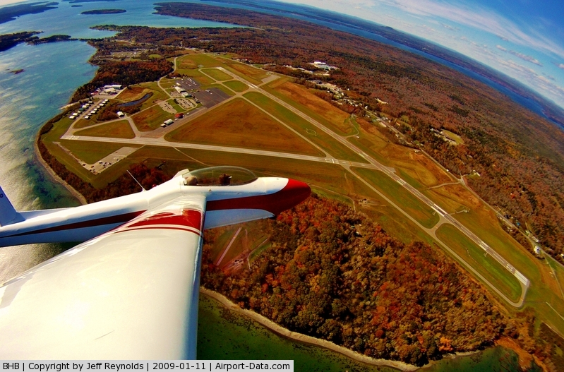 Hancock County-bar Harbor Airport (BHB) - From the air