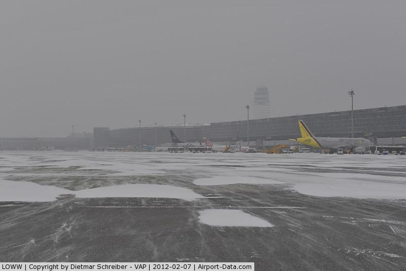 Vienna International Airport, Vienna Austria (LOWW) - Snow on Apron