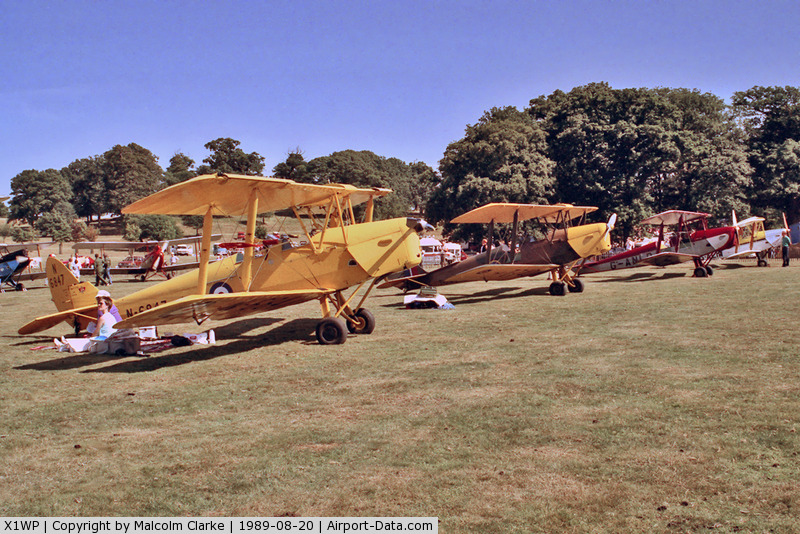 X1WP Airport - Without doubt one of the most scenic of UK annual air days, this the 1989 De Havilland Moth Rally held in the park lands of Woburn Abbey in Bedfordshire.