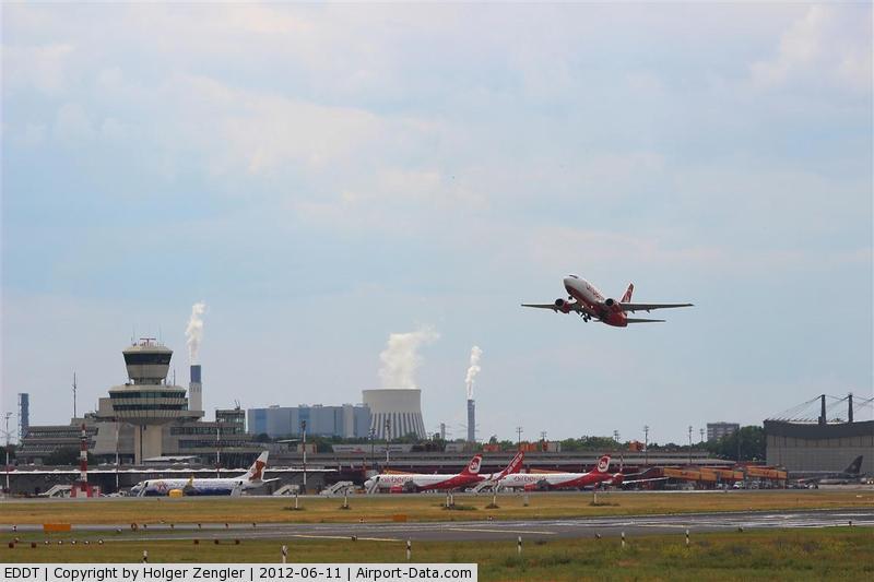 Tegel International Airport (closing in 2011), Berlin Germany (EDDT) - Outbound traffic on rwy 08R......
