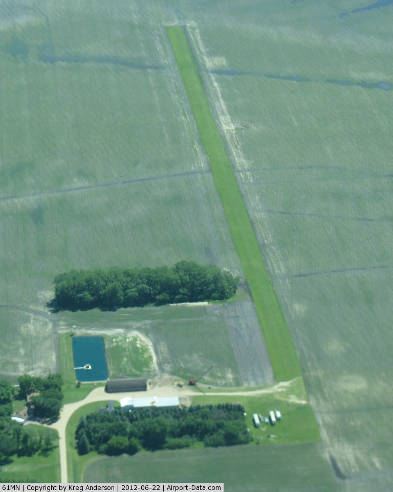 Traverse Air Airport (61MN) - A view of Traverse Air Airport-10 miles north of Wheaton, MN-from 3000'.