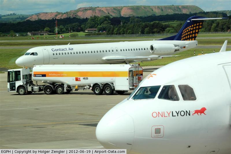 Edinburgh Airport, Edinburgh, Scotland United Kingdom (EGPH) - Traffic on apron.....