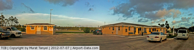 Treasure Cay Airport, Treasure Cay, Abaco Bahamas (TCB) - A panoramic view of the airport buildings