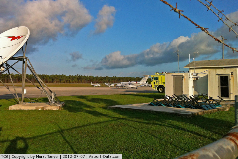Treasure Cay Airport, Treasure Cay, Abaco Bahamas (TCB) - A peek at the airfield through the fence