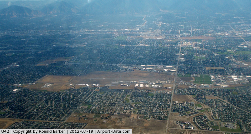 South Valley Regional Airport (U42) - South Valley on approach to SLC