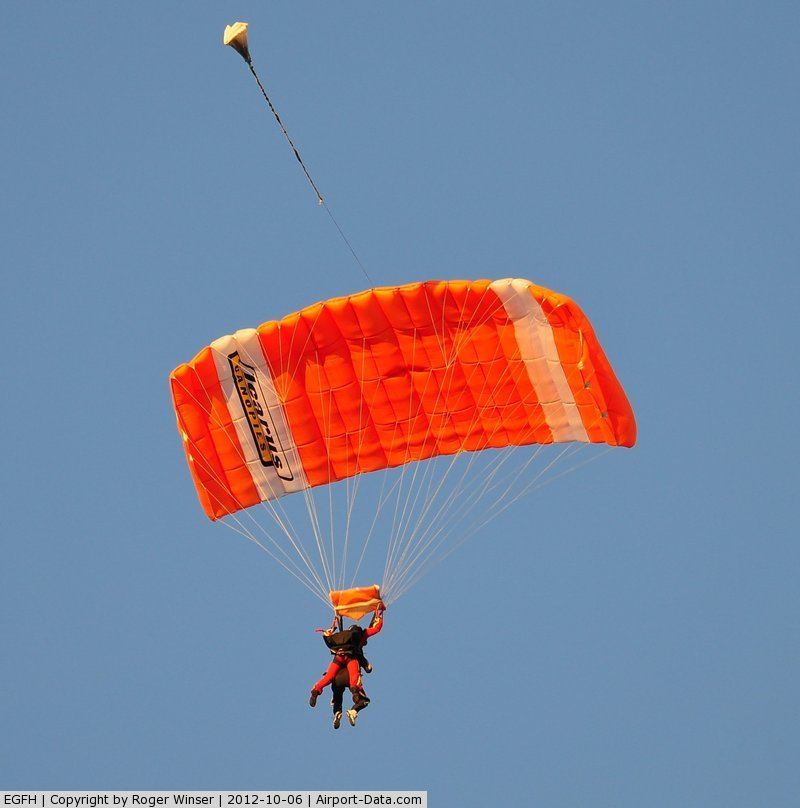 Swansea Airport, Swansea, Wales United Kingdom (EGFH) - Tandem skydive for charity with Skydive Swansea.