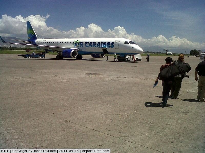 Port-au-Prince International Airport (Toussaint Louverture Int'l), Port-au-Prince Haiti (MTPP) - Aircraft Air Caraïbes after landing at the Toussaint Louverture International Airport of Port-au-Prince