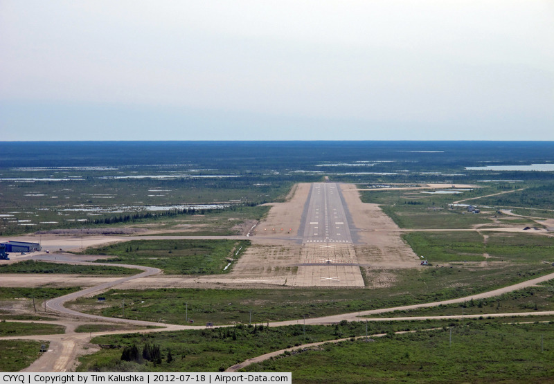 Churchill Airport, Churchill, Manitoba Canada (CYYQ) - Final for runway 15