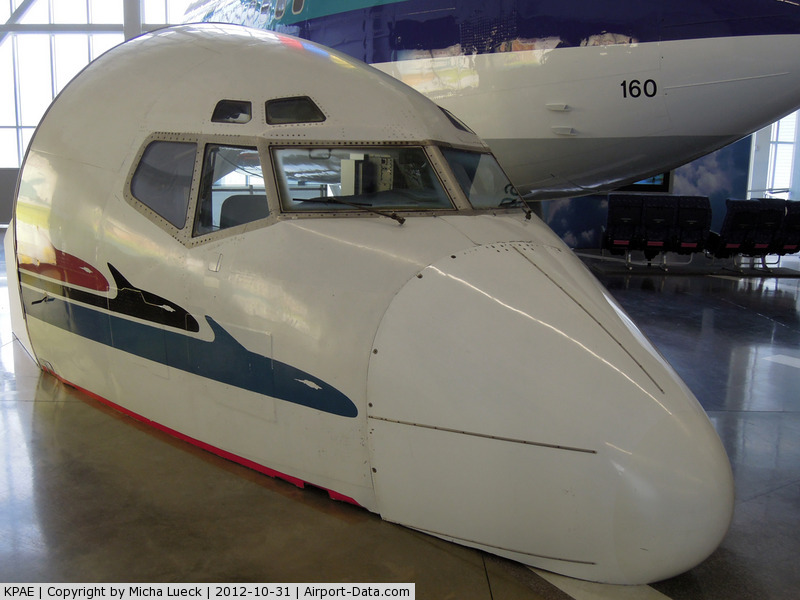 Snohomish County (paine Fld) Airport (PAE) - B 727 nose at the Future of Flight exhibition