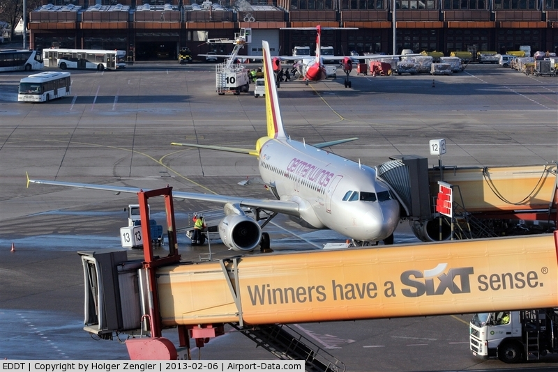 Tegel International Airport (closing in 2011), Berlin Germany (EDDT) - Business as usual around stand 12 at Terminal A....