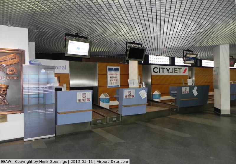 Antwerp International Airport, Antwerp / Deurne, Belgium Belgium (EBAW) - Check In Counter for  CityJet and BMI Regional flights.