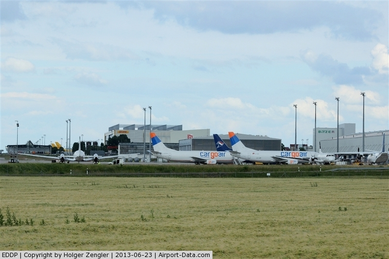 Leipzig/Halle Airport, Leipzig/Halle Germany (EDDP) - Apron 2 - at weekend home of small freighters flying for DHL....