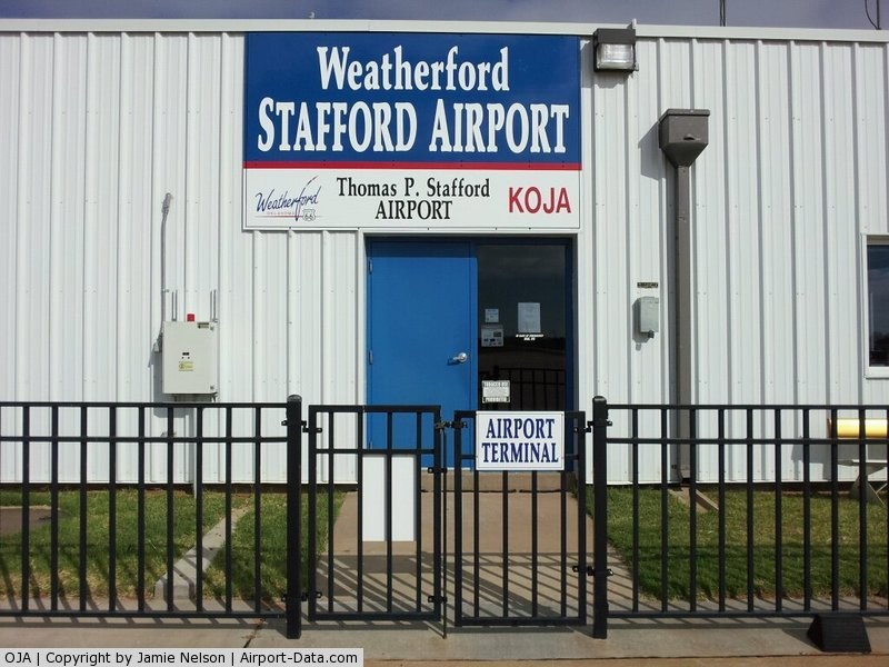 Thomas P Stafford Airport (OJA) - View from South Ramp