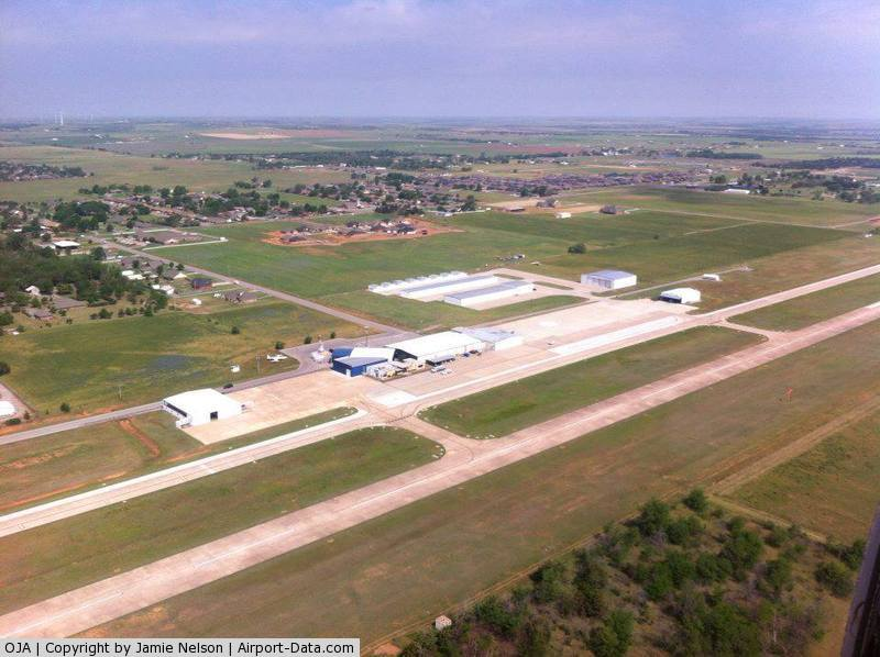 Thomas P Stafford Airport (OJA) - Aerial shot of Weatherford-Stafford Airport