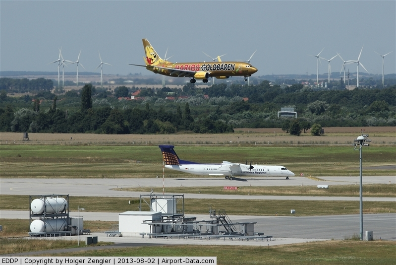 Leipzig/Halle Airport, Leipzig/Halle Germany (EDDP) - Meeting of inbound and outbound traffic at holding point 08L....