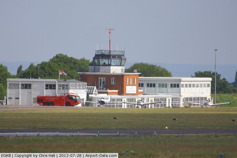 London Biggin Hill Airport, London, England United Kingdom (EGKB) - Biggin Hill tower and terminal building