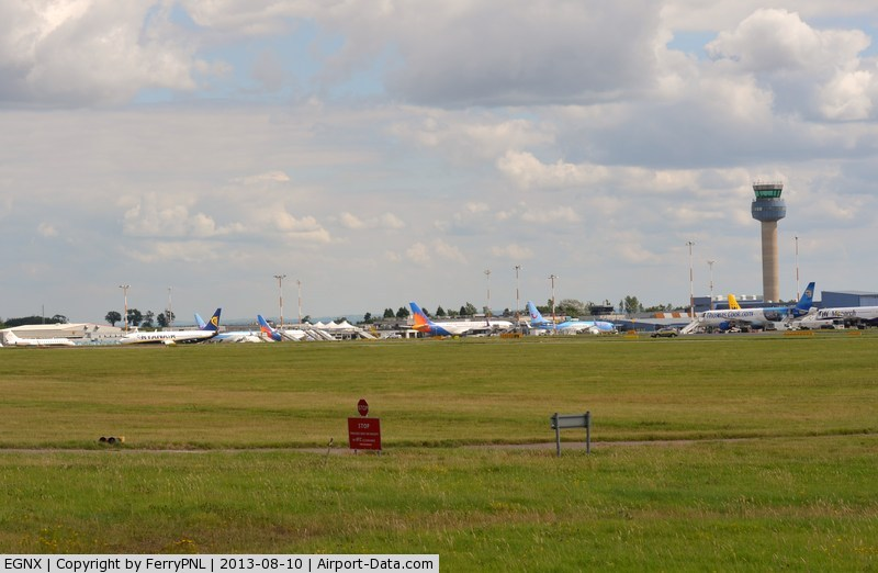Nottingham East Midlands Airport, East Midlands, England United Kingdom (EGNX) - Overview of the EMA passenger terminal on a Saterday afternoon.