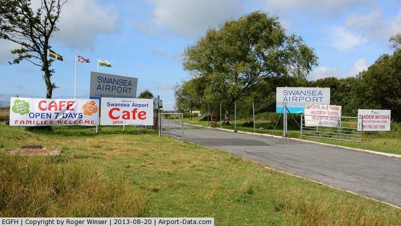 Swansea Airport, Swansea, Wales United Kingdom (EGFH) - Entrance to Swansea Airport.