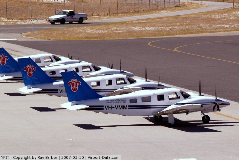 Jandakot Airport, Jandakot, Western Australia Australia (YPJT) - These Senaca's have all now been re-registered in Malaysia.