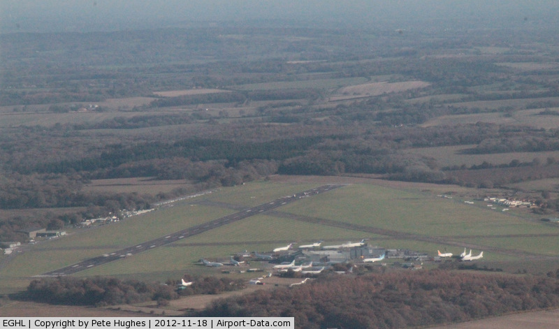 Lasham Airfield Airport, Basingstoke, England United Kingdom (EGHL) - west abeam Lasham showing stored Boeing 727 and 737