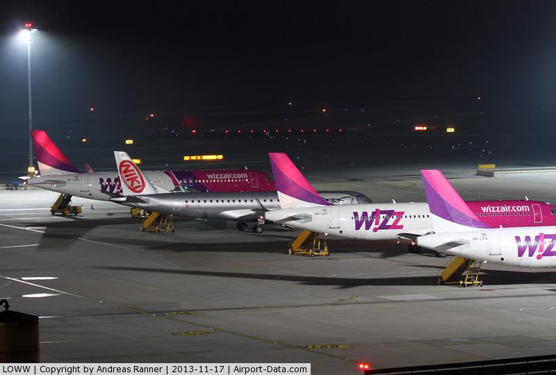 Vienna International Airport, Vienna Austria (LOWW) - diverted Wizz Air aircrafts