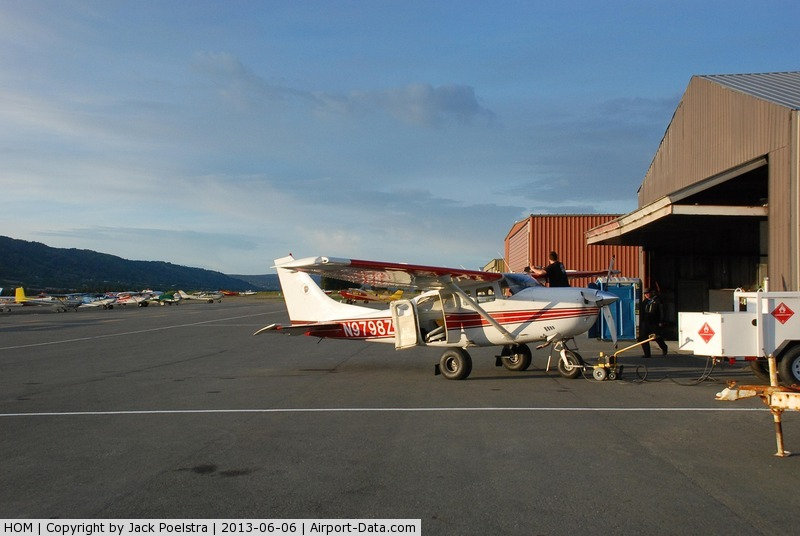 Homer Airport (HOM) - Homer airport AK in the evening