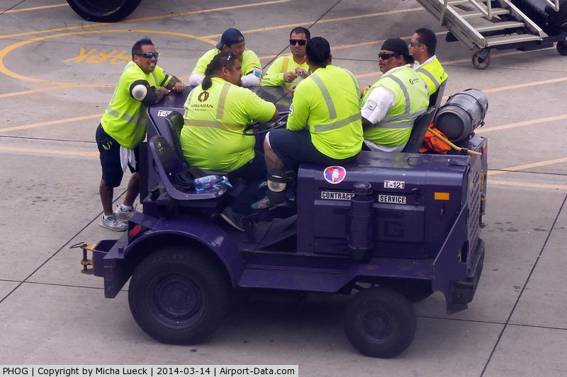 Kahului Airport, Kahului, Hawaii United States (PHOG) - At Kahului