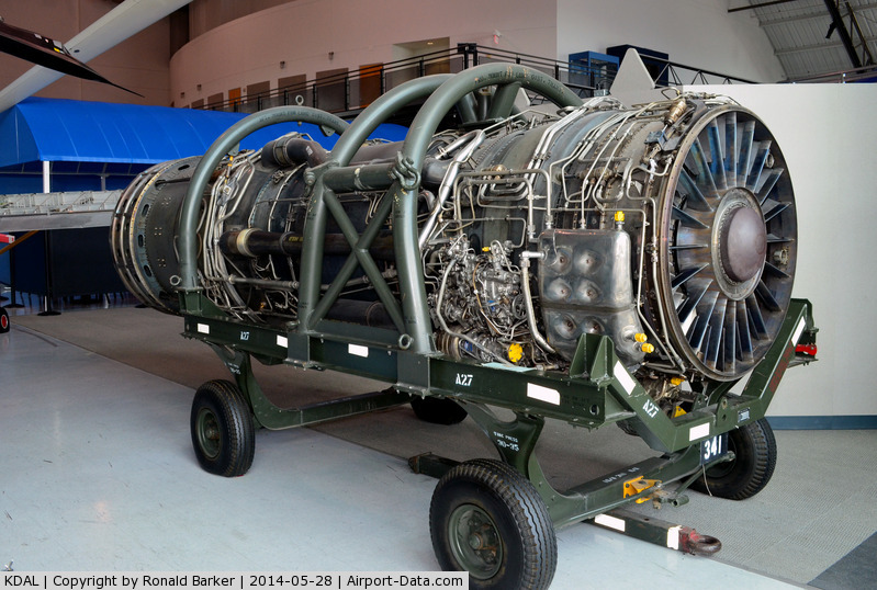 Dallas Love Field Airport (DAL) - J-58 engine for SR-71A Frontiers of Flight Museum DAL