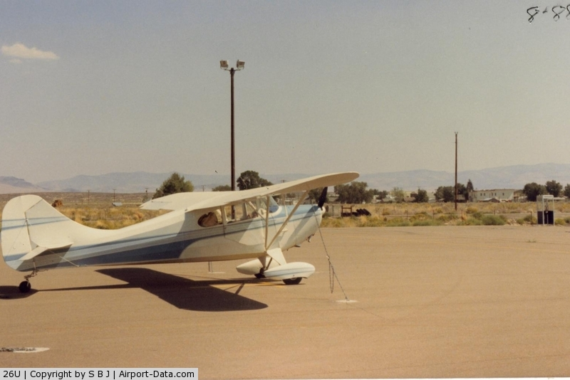 Mc Dermitt State Airport (26U) - N3368E at McDermitt State.Interesting place as the airport is in Oregon,but the town is in Nevada. The town can be seen in the distance.A short walk.