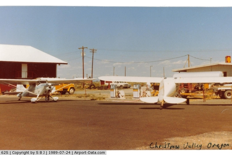 Christmas Valley Airport (62S) - A stop for gas in 1989.