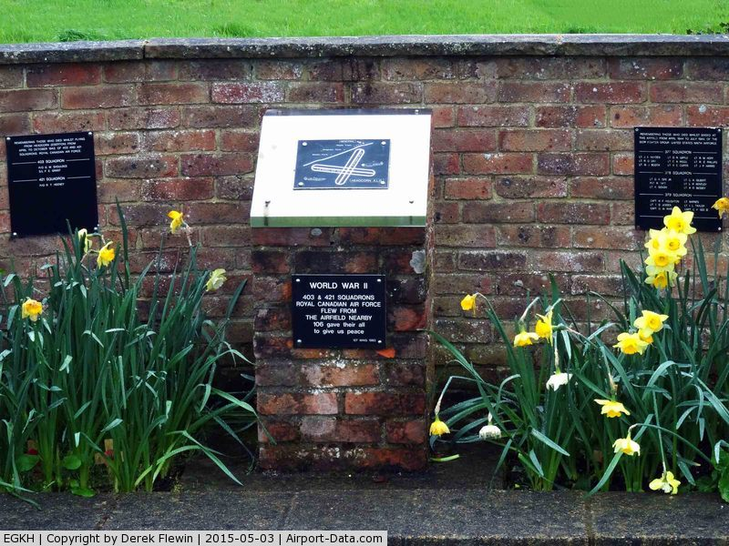 Lashenden/Headcorn Airport, Maidstone, England United Kingdom (EGKH) - In Memory of those who served at Headcorn ALG in support of the Normandy landings.