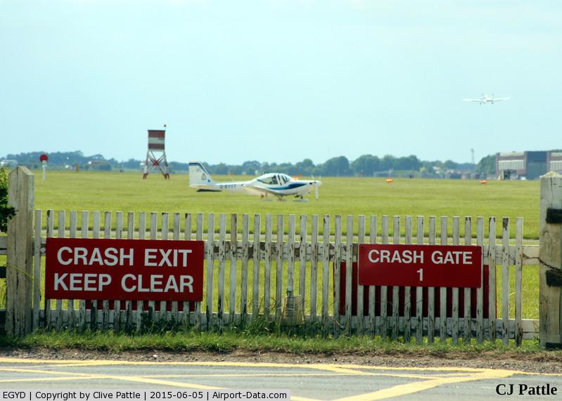 RAF Cranwell Airport, Cranwell, England United Kingdom (EGYD) - Crash Gate at EGYD