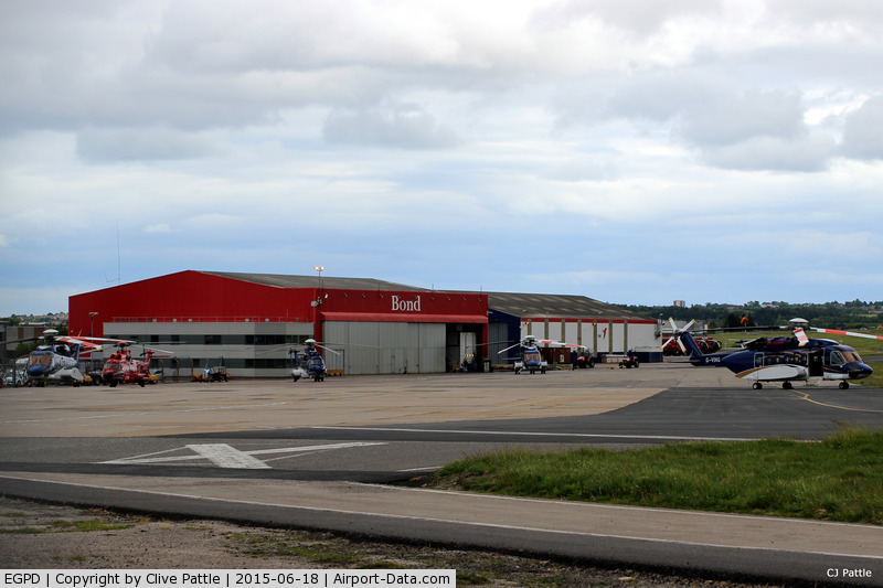 Aberdeen Airport, Aberdeen, Scotland United Kingdom (EGPD) - Part of the Bond Helicopter site at Aberdeen, Scotland EGPD