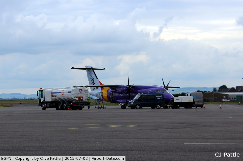 Dundee Airport, Dundee, Scotland United Kingdom (EGPN) - A Dornier of Flybe receiving fuel, food and luggage at Dundee Riverside Airport EGPN