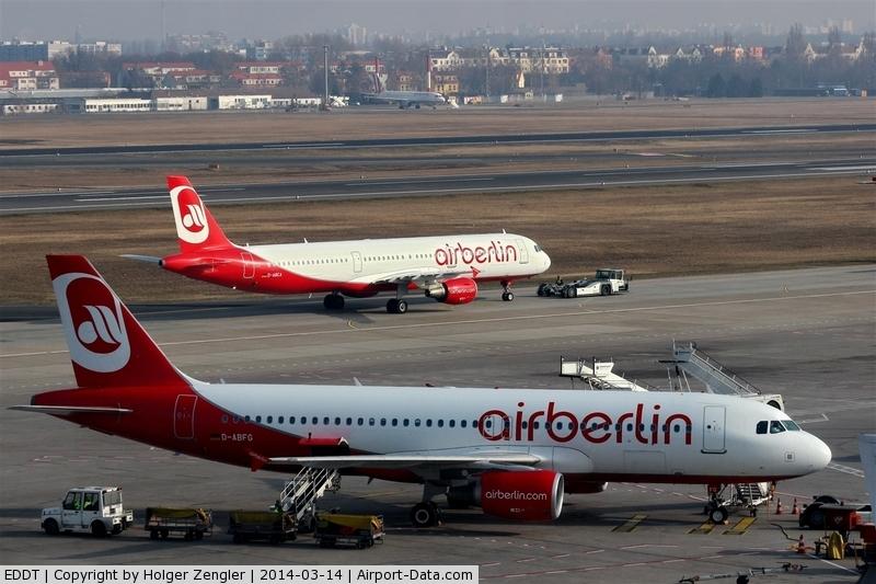 Tegel International Airport (closing in 2011), Berlin Germany (EDDT) - Three-level view...