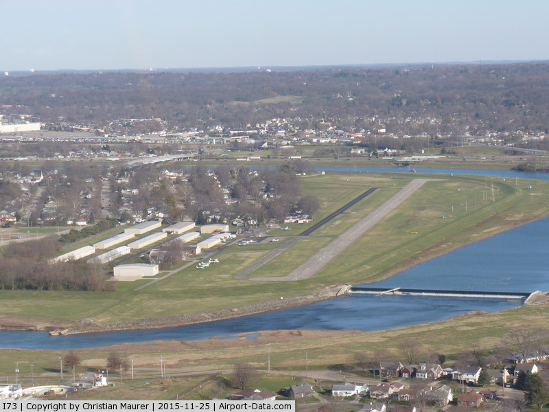 Moraine Air Park Airport (I73) - Moraine Air Park after takeoff