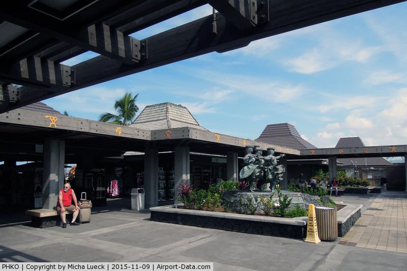 Kona International Airport, Kailua-Kona, Hawaii United States (PHKO) - Open air gate area at Kailua-Kona
