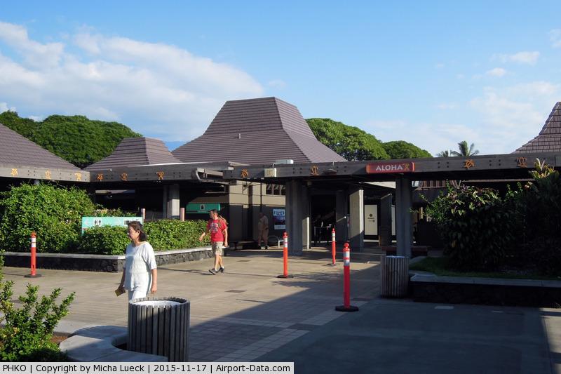 Kona International Airport, Kailua-Kona, Hawaii United States (PHKO) - Aloha - arrivals in Kailua-Kona