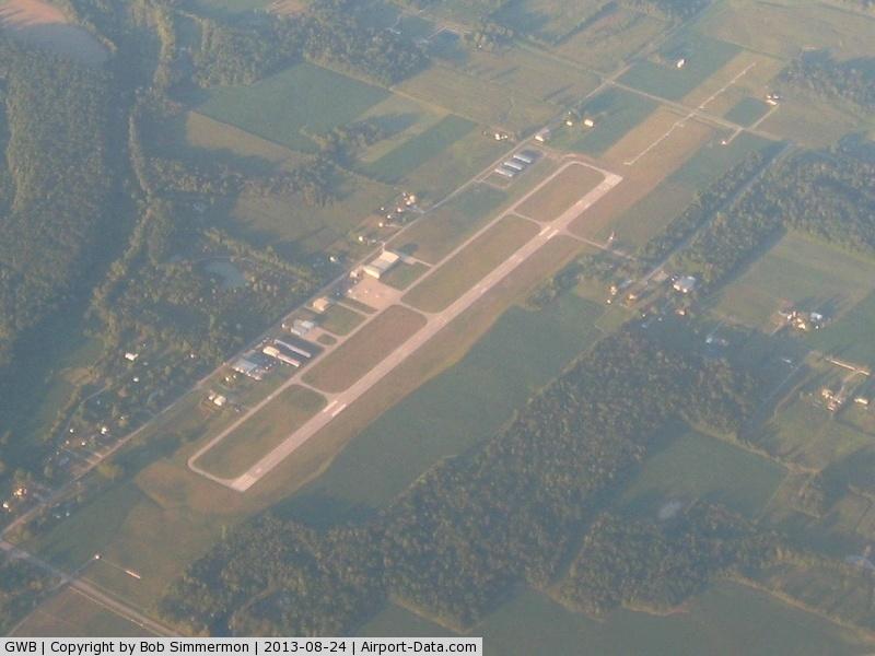 De Kalb County Airport (GWB) - Looking NE from 10,000 ft.