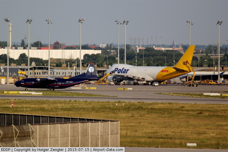 Leipzig/Halle Airport, Leipzig/Halle Germany (EDDP) - Giant and gnom in beautiful colors on apron 5....