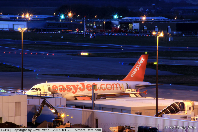 Aberdeen Airport, Aberdeen, Scotland United Kingdom (EGPD) - Nightime terminal activity at Aberdeen EGPD
