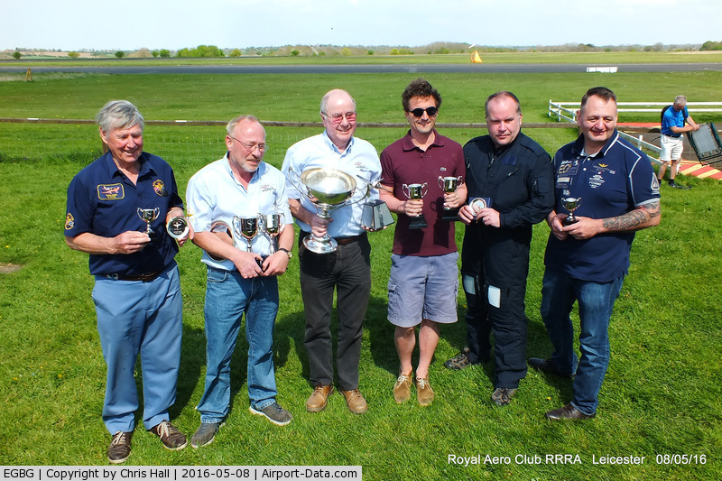 Leicester Airport, Leicester, England United Kingdom (EGBG) - winners in the Royal Aero Club air race at Leicester