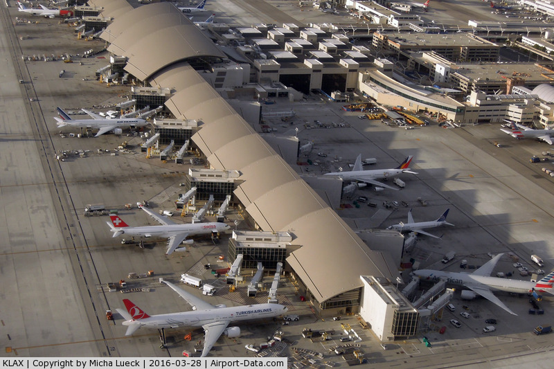 Los Angeles International Airport (LAX) - Colourful tails at TBIT