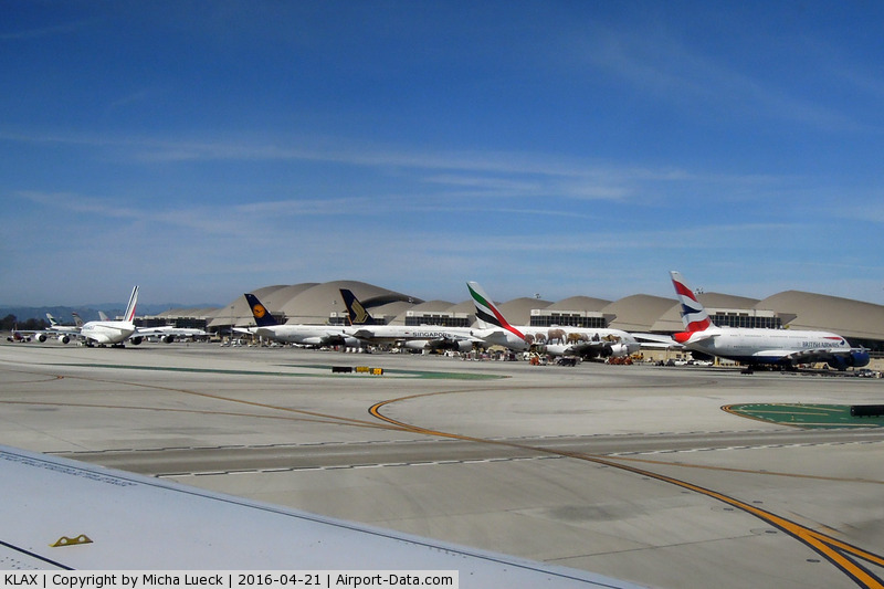 Los Angeles International Airport (LAX) - 5 A380s, 5 different airlines