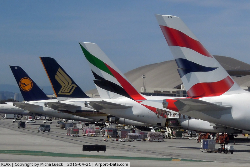 Los Angeles International Airport (LAX) - Mirror, mirror on the wall, which A380 tail is the most beautiful of all?