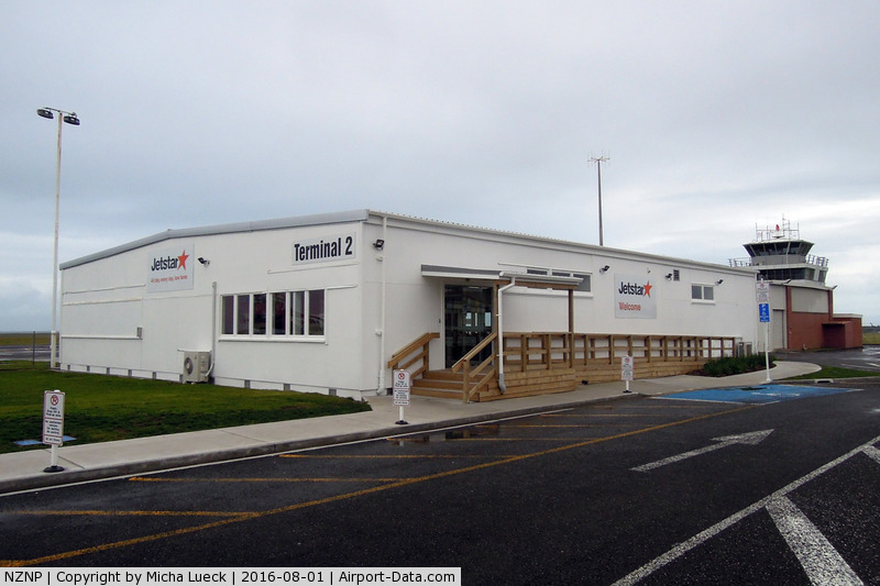 New Plymouth Airport, New Plymouth New Zealand (NZNP) - Since the arrival of PropStar services, NPL now has a Terminal 2 (more a shack than a terminal though ;-)