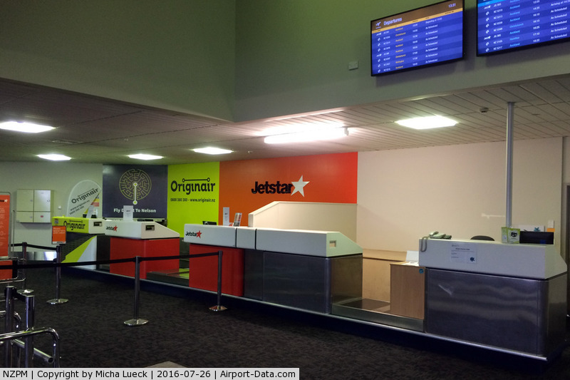 Palmerston North International Airport, Palmerston North New Zealand (NZPM) - Check-in area for the